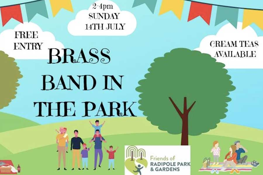 Weymouth Concert Brass Band in Radipole Gardens Sun 14 July 2019