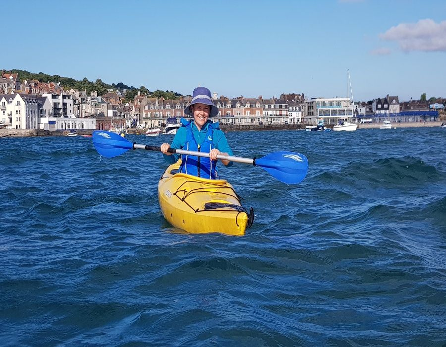 Early Morning Swanage Bay kayak club