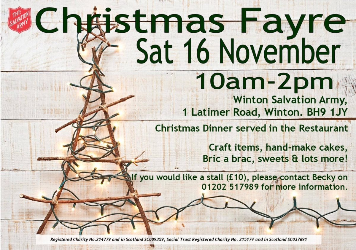 Winton Salvation Army Christmas Fayre