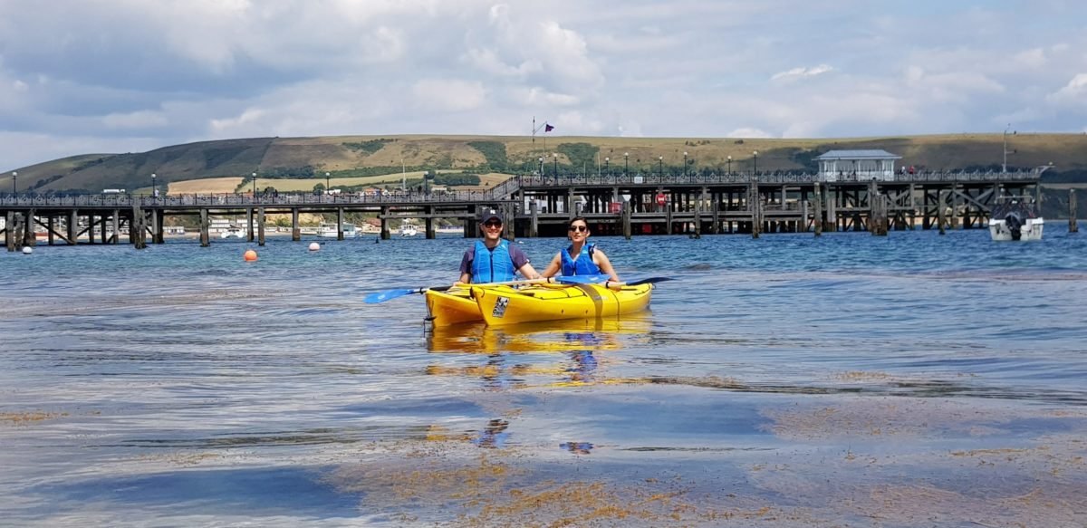 kayaking taster session in Swanage Bay