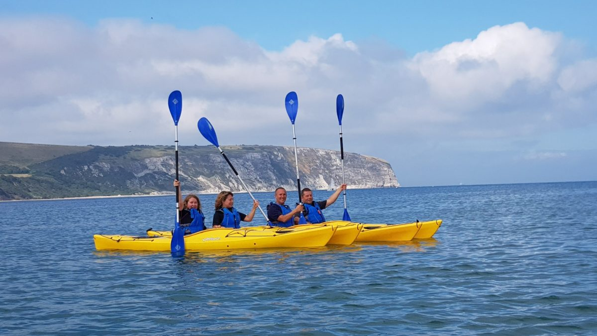 2 hour Guided kayaking trip Swanage Bay