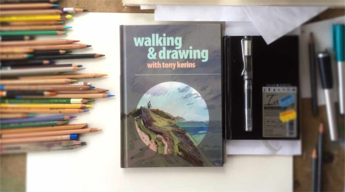 Tony Kerins' Walking and Drawing Exhibition