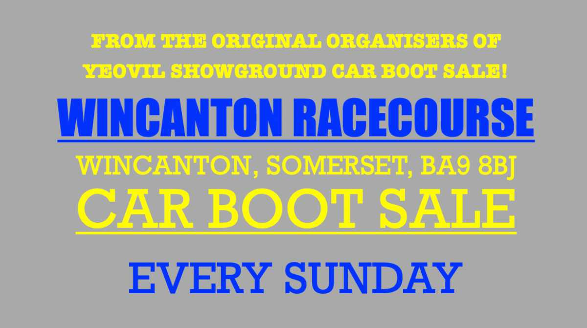 Axminster and Yeovil Showground Car Boot Sale 2021